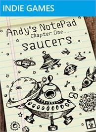 Box cover for Andy's Notepad [Saucers] on the Microsoft Xbox Live Arcade.